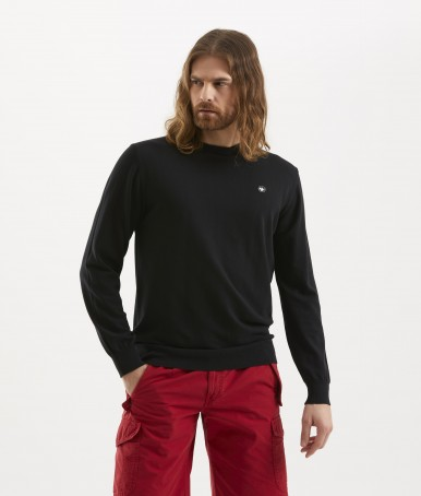 BLACK ROUNDNECK MEN'S SWEATER MURPHY