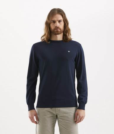BLUE ROUNDNECK MEN'S SWEATER MURPHY