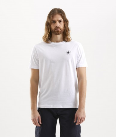 WHITE MEN'S T-SHIRT BERTH