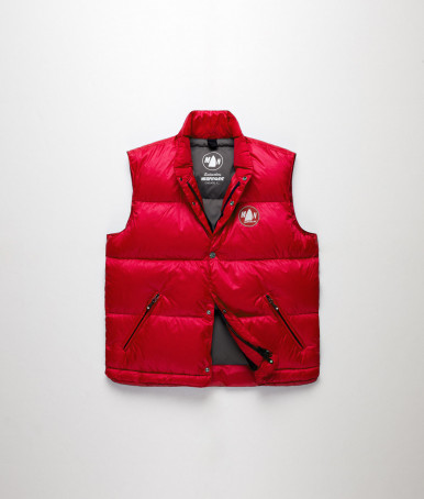 RED SLEEVELESS VEST DINGHY