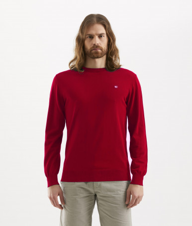 RED ROUNDNECK MEN'S SWEATER MURPHY