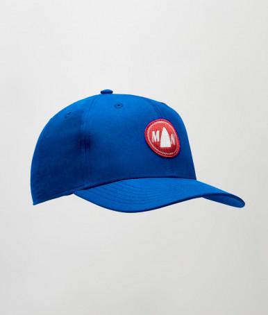 BLUE NYLON CAP WITH VISOR